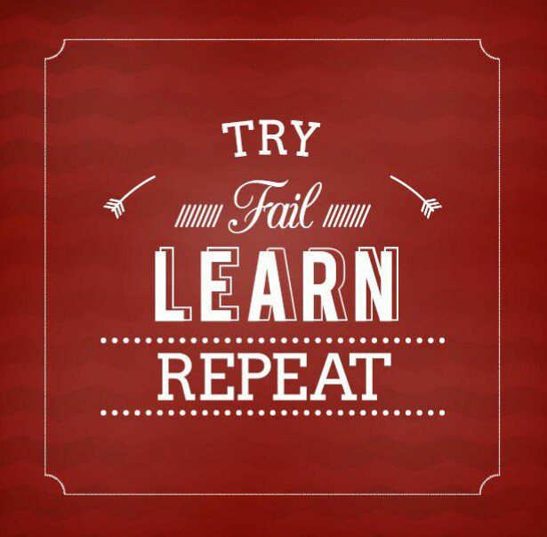 try fail learn repeat